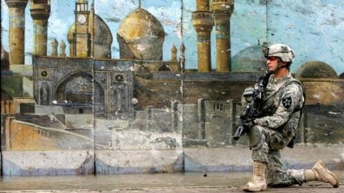 Irak:US Soldaten in Bagdat- und die 1000 Jahre alte Moschee Al-Kadimija